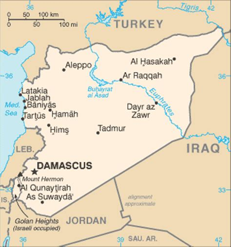 middle east map damascus geographyiq world atlas middle east map of syria