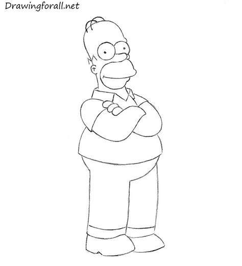 How To Draw The Simpsons On The by How To Draw Homer Drawingforall Net