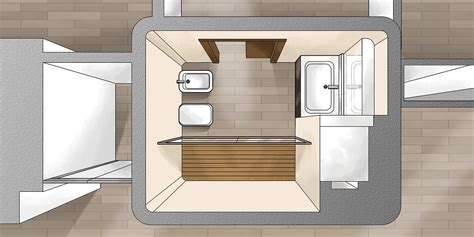 disposizione bagno rettangolare suddivisioni ottimizzate per la casa di meno di 100 mq