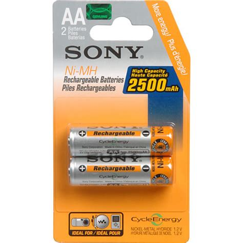 Baterai Battery Rechargeable Sony 6800 Mah sony aa nimh 2500 mah rechargeable battery 2 pack