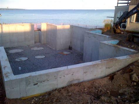 high water table basement digging geothermal horizontal loops in high water table