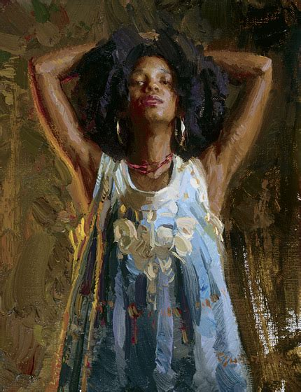 black woman paintings portraits natural hair art by scott burdick contemporary art female