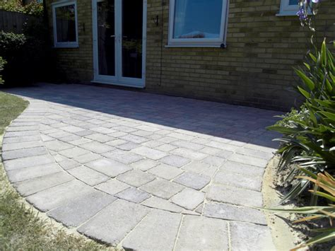 Curved Patio - small curved block patio coastal landscapes ltd