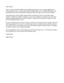 thank you letter loyal customers customer thank you