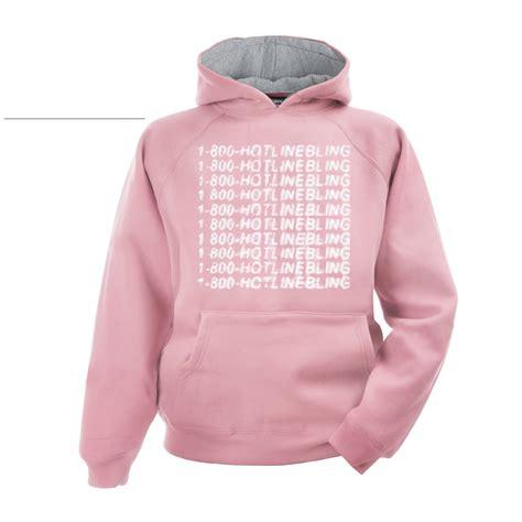Jakethoodiesweater Hotlinebling Pink 1 800 hotline bling hoodie pink hodies