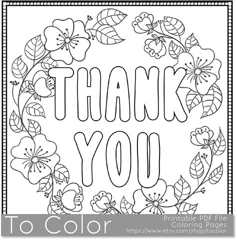 coloring pages of thank you cards thank you printable coloring page for adults pdf jpg