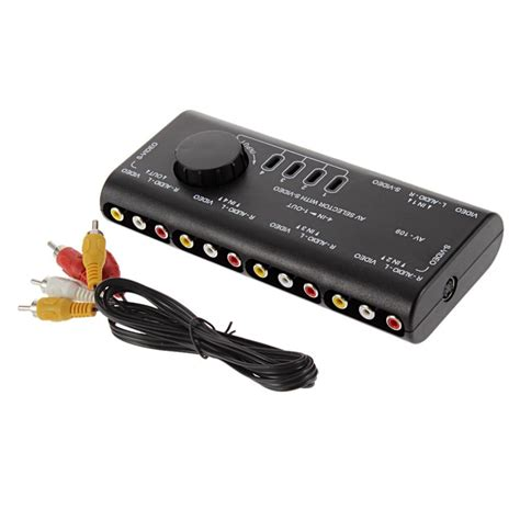 4 In 1 Out 4 in 1 out av rca switch box av audio signal