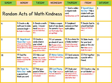 28 random acts of kindness mango math math games and activities for k 8