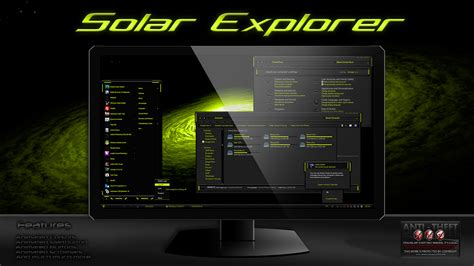 theme windows 7 electric solar explorer theme for windows7 by designfjotten by