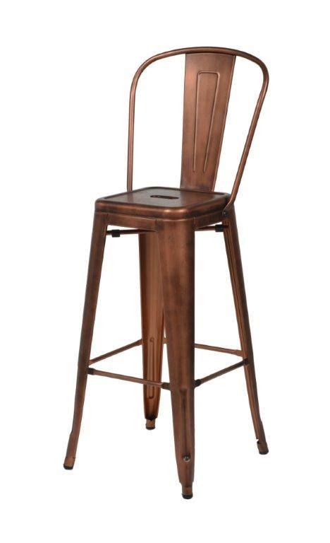 Copper Metal Bar Stools by Maxwell Bar Stool Copper Metal Encore Events Rentals