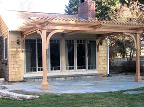 patio pergola by trellis structures