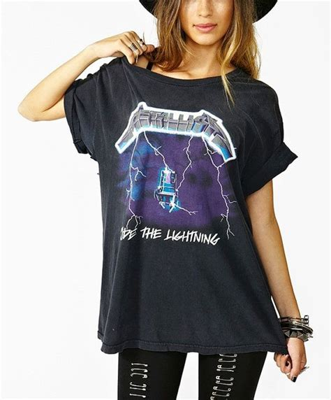 Do You Sport Rocker Tees by Vintage 80s 90s Auth Metallica Ride The Lightning Album