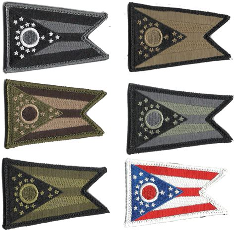 state tactical patches 2x3 ohio state tactical patch