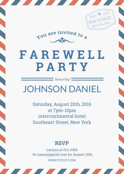search results for farewell party invitation wording