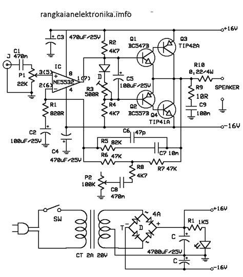 Diy Pcb Dan Komponen 12v 45w Stereo Bridge Lifier S 101 Saturn rangkaian mini audio lifier gambar skema rangkaian