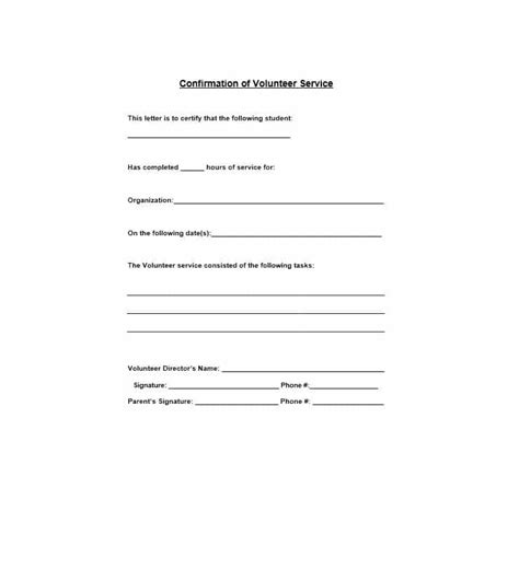Community Service Letter For High School Students community service letter 40 templates completion verification