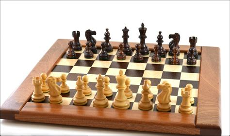 Handcrafted Chess Sets - handmade wooden chess set signed by david levy