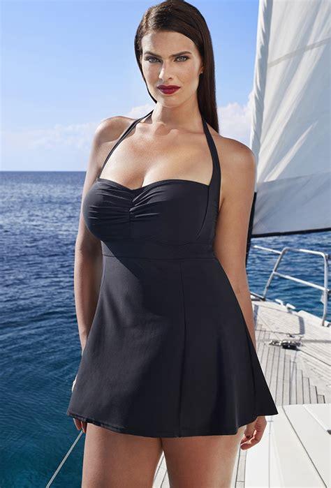 best swimsuits for heavy thighs swim sexy black retro halter swimdress