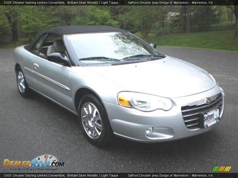 2005 chrysler sebring limited 2005 chrysler sebring limited convertible brilliant silver