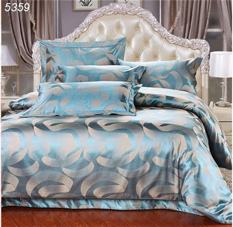 royal blue comforter set queen royal luxury blue 4pcs silk satin jacquard bedroom