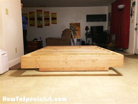 how to build a size platform bed frame diy platform bed size friendly woodworking projects