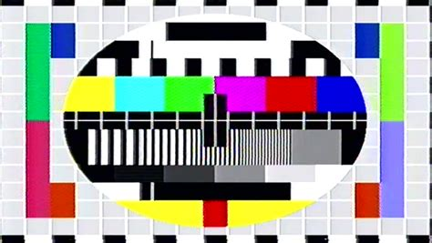 test pattern sound effect tv test screen with color effects stock footage video