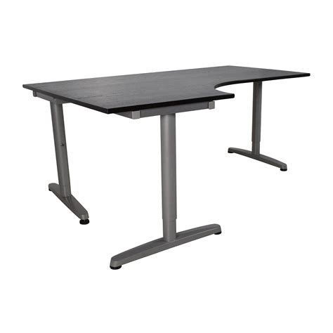 Furniture Leaning Desk Ikea With Sit Stand Desk Ikea Also Ikea Galant Standing Desk