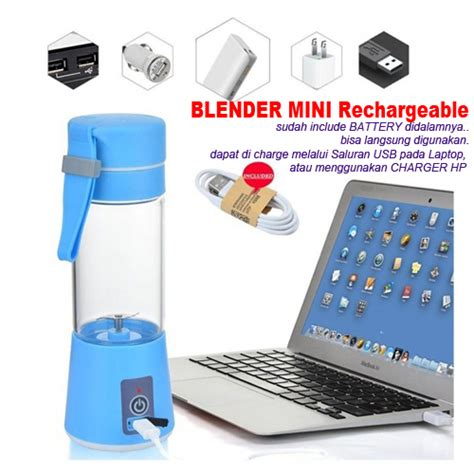 Blender Mini Murah blender usb mini murah include battery rechargeable 735