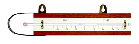 Thermometer Solid Stem solid stem minimum screen thermometer with wood back