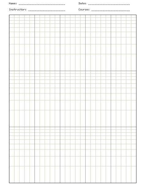 Paper Log - molecular biology semi log graph paper