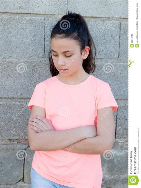 preteen street angry preteen girl in the street stock photo image 53312712