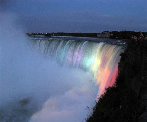 Night Lights On Niagara Falls Niagara Falls Pinterest Lights Niagara Falls