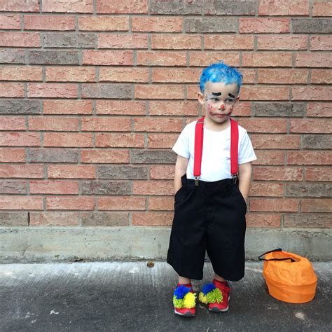 diy toddler boy costumes diy boy clown costume yarn pom poms