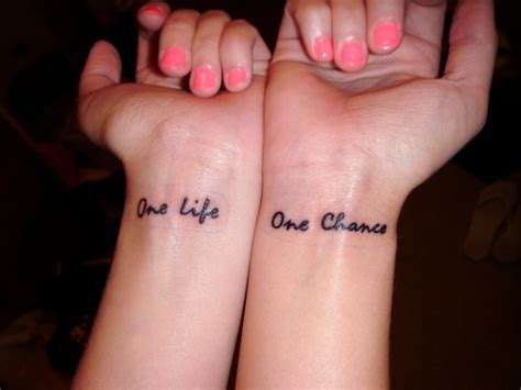 one life tattoo 50 cool one word designs photos truetattoos