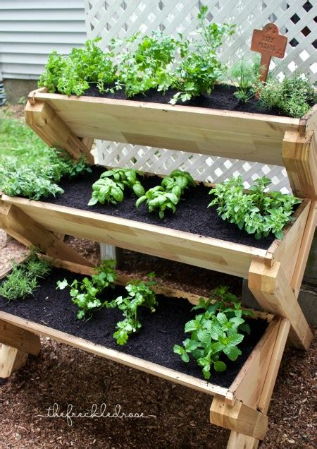 herbs planter picture of this cedar planter is a super cute way to grow herbs vertically great idea for a