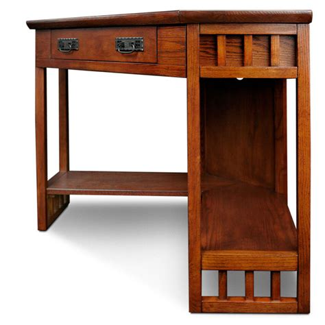 Mission Style Corner Desk Mission Computer Desk Oak Corner Style Laptop Writing Desk Desks Home Office Furniture