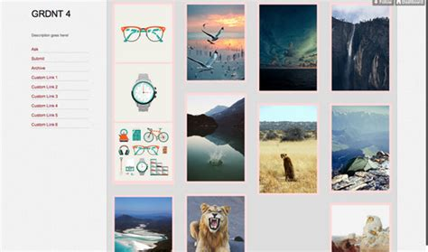 grid layout html tumblr image gallery layouts tumblr themes