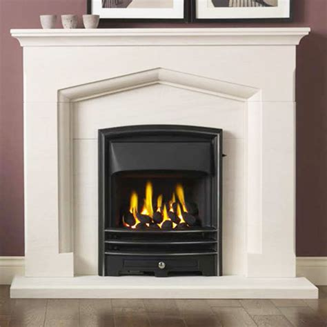 Portuguese Limestone Fireplace by Gallery Kendal Portuguese Limestone Fireplace Suite