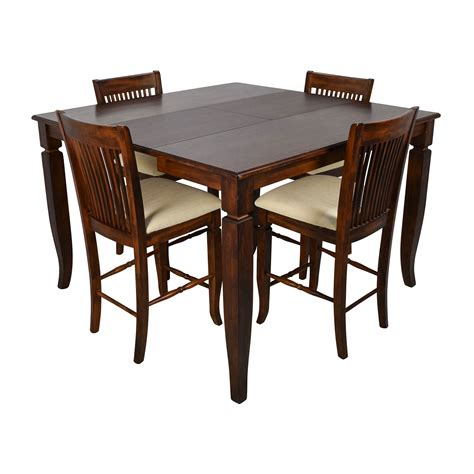 dining room tables extendable 75 off tall extendable dining room table set tables