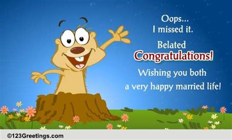 Wedding Congratulations Belated by Belated Congrats Free Belated Wishes Ecards Greeting