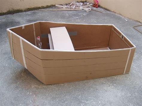 cardboard boat tutorial how to make a cardboard boat ascesorios pinterest