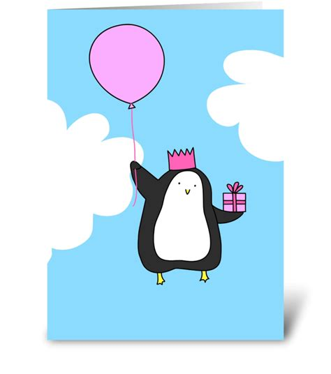 Penguin Birthday Card Printable
