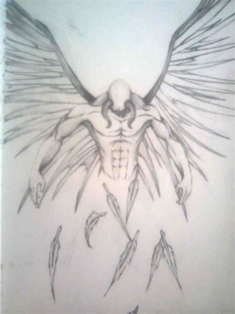 fallen angel tattoo design fallen drawing design idea tattoos i like