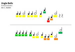 Galerry music for colored handbells
