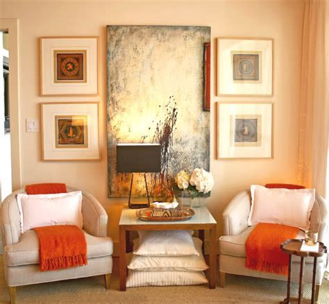 Orange Living Room Accessories by Decor The Color Of October