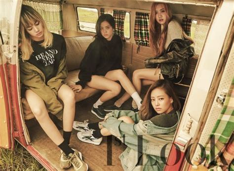 blackpink tentang blackpink hits the road in first magazine photo shoot with