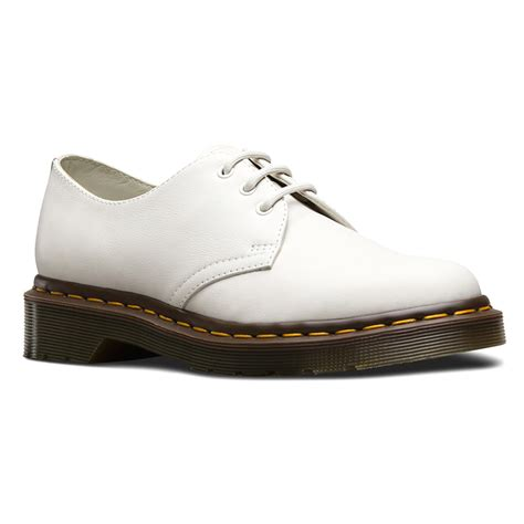Shoes Dr Martens lyst dr martens 1461 3 eye shoe in white