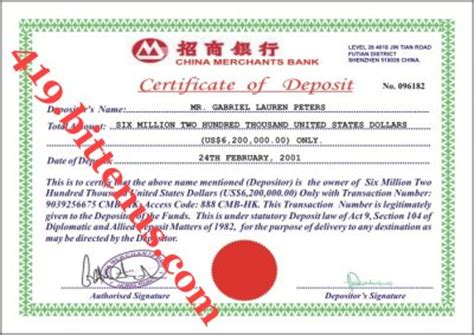 certificate of deposit template pics for gt certificate of deposit sle