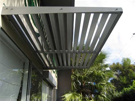 metal louvre awnings aluminium cantilevered awnings and louvres