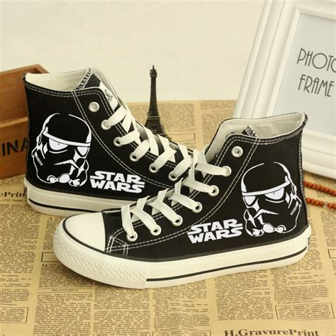 wars shoes wars casual shoes black with stormtrooper pair new